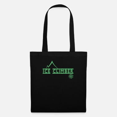 Mountains Ice climber ice climbing athlete ice ice climbing - Tote Bag