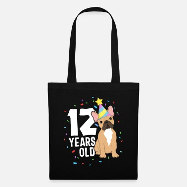 Cute Pets 12 Years Old Birthday Outfit French Bulldog Dog - Tote Bag