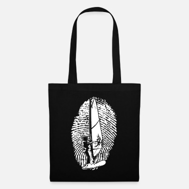 Periodic Table Fingerprint Windsurfer DNA Windsurfing Shirt - Tote Bag