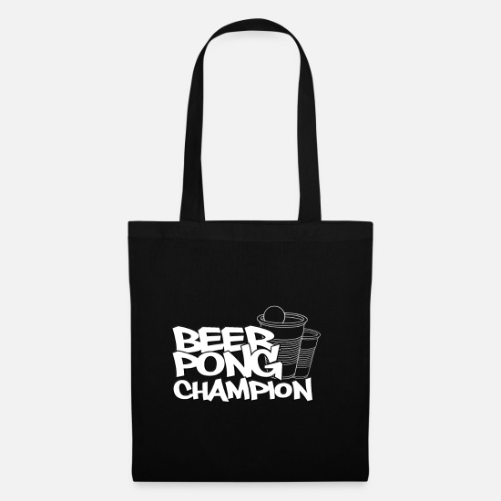 Alcohol Bags & Backpacks - Beer Pong Champ - Tote Bag black