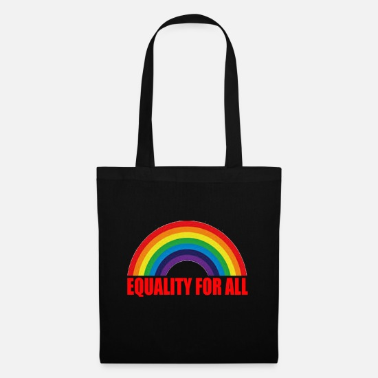 Human Rights Bags & Backpacks - Gay Pride Gift - Tote Bag black