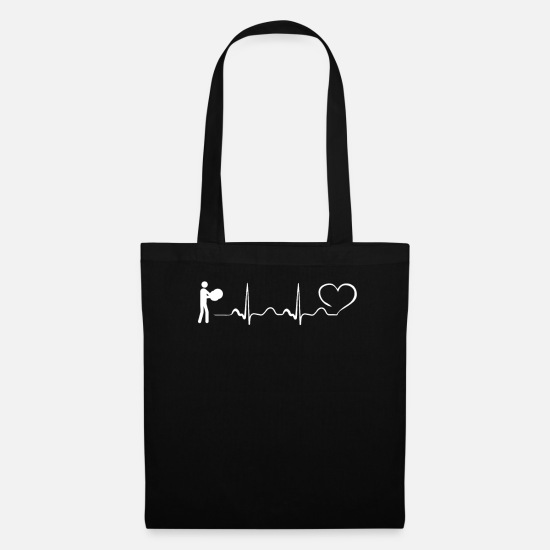 Instrument Bags & Backpacks - Triangle Heartbeat Ekg SPORT DESIGN - Tote Bag black