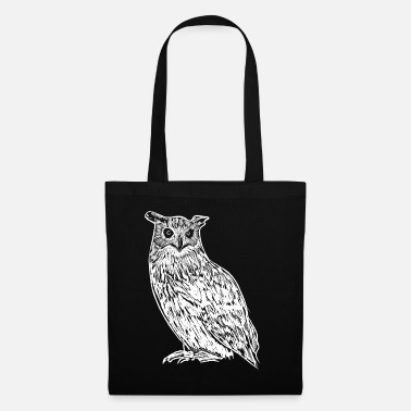 Nocturnal Owl Art Illustration Drawing Gift - Tote Bag