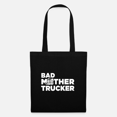 Road Transport Truck Happy truck driver trailer cargo - Tote Bag