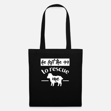 Rescue Christian Quote Left 99 Rescue Me Sheep Shepherd - Tote Bag
