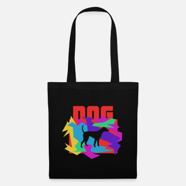 South Dog Colored Mosaic Puzzle - Tote Bag