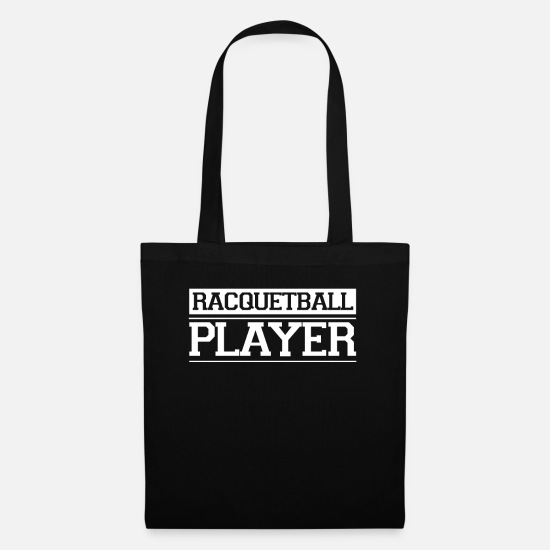 Gift Idea Bags & Backpacks - Team Racquetball Racquetballer Racket Player - Tote Bag black