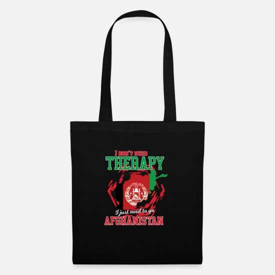 Travel Bags & Backpacks - I don't need therapy - afghanistan - Tote Bag black