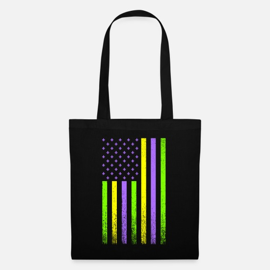 Mardi Gras Bags & Backpacks - Mardi Gras Flag - Tote Bag black