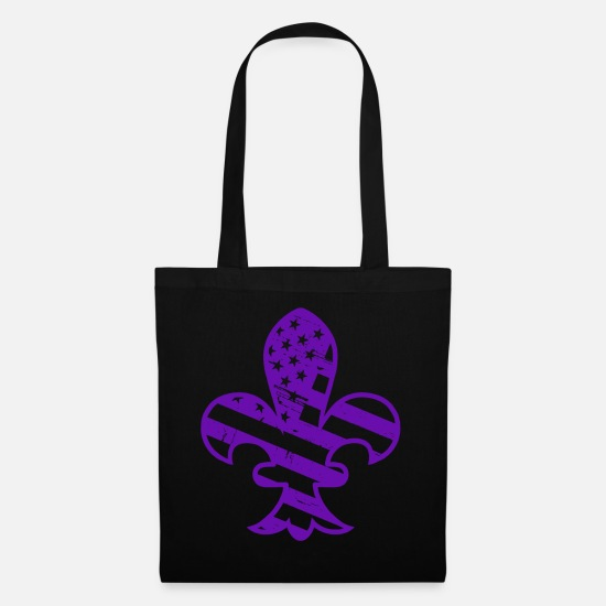 Southern Bags & Backpacks - Fleur De Lis Vintage New Orleans Mardi Gras - Tote Bag black