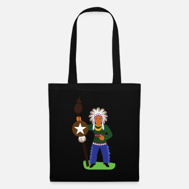American Indian Native American Indians Appache Indian costume - Tote Bag