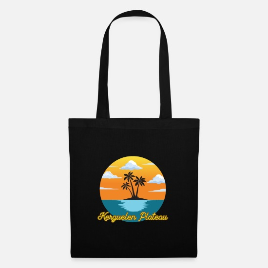 Travel Bags & Backpacks - Kerguelen plateau dream vacation and holiday - Tote Bag black