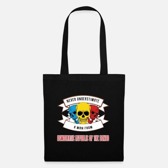 Travel Bags & Backpacks - Never underestimate anyone from the Democratic Republic - Tote Bag black