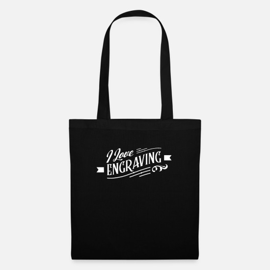 Gift Idea Bags & Backpacks - Engraver Engraver Engraving Team Engraving - Tote Bag black