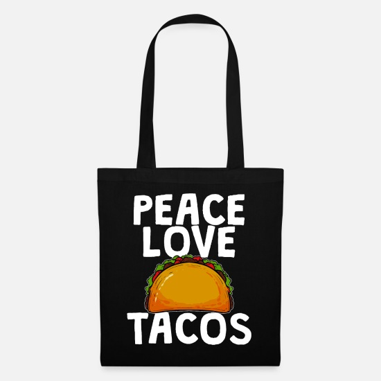Mexican Bags & Backpacks - tacos - Tote Bag black