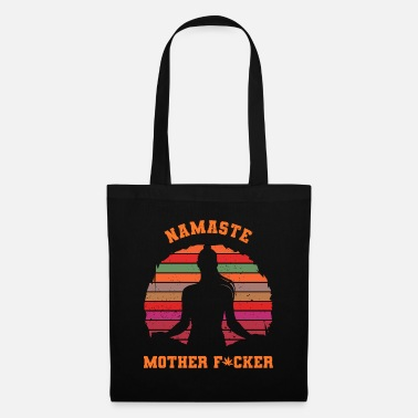 Offender Namaste motherfucker silhouette funny - Tote Bag