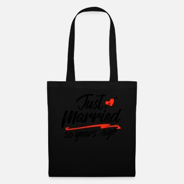 Gold Just Married 38 Year Ago Funny Wedding - Tote Bag