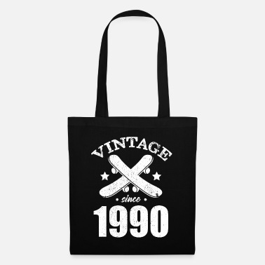 Skateboard Skater vintage birthday gift 1990 30 years - Tote Bag
