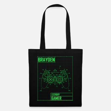 Brayden Legendary Gamer - Personalized Name Gift - Tote Bag