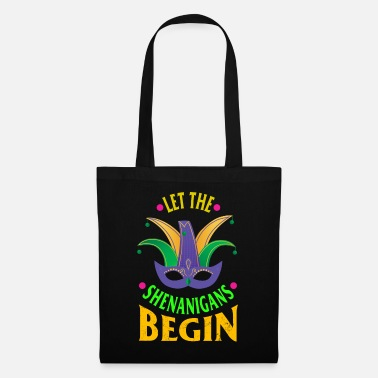 Bourbon Mardi Gras Shirt Let The Shenanigans Begin Mask - Tote Bag
