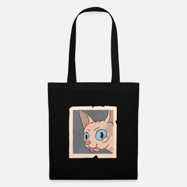 Selfie Sphynx Cat Selfie Pose Vintage Photo Retro - Tote Bag