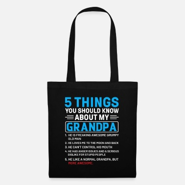 Clan Father Grandpa 5 Things should know - Tote Bag