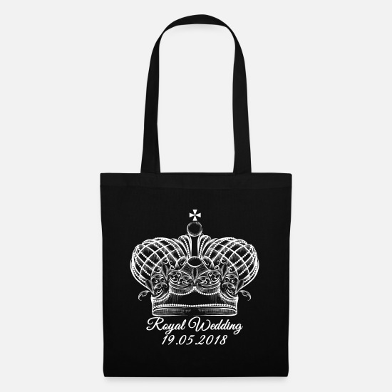 Official Bags & Backpacks - Antique Vintage Crown.19 May. Royal Wedding Gifts. - Tote Bag black