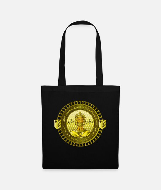 Emperor Bags & Backpacks - Charlemagne - Carolus Magnus - Tote Bag black