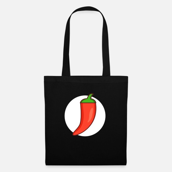 South America Bags & Backpacks - Bell pepper red pepper hot chilli pepper - Tote Bag black
