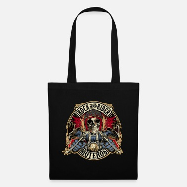 Rock And Rider Rock And Rider Moteros Skull Color - Bolsa de tela