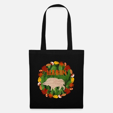 Ritual mabon in the foliage circle with boar - Tote Bag