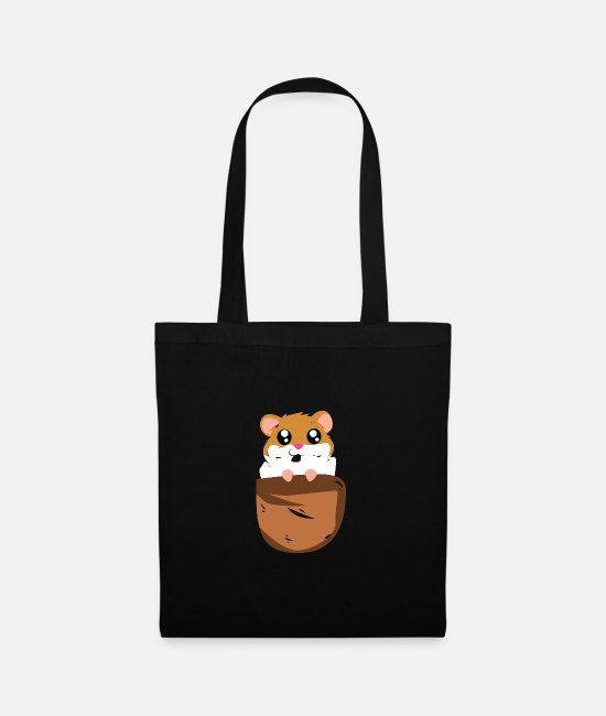 Beady Eyes Bags & Backpacks - Hamster rodent gift - Tote Bag black