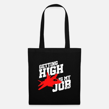 Fighter Jet Pilot plane sky air flying profession hobby - Tote Bag