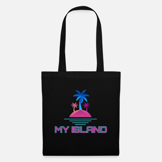 Neon Bags & Backpacks - Stylish island of My Island - Tote Bag black