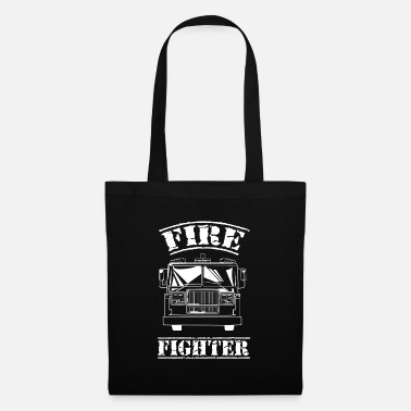 Fire Fighter Fire Fighter at the fire department - Tote Bag