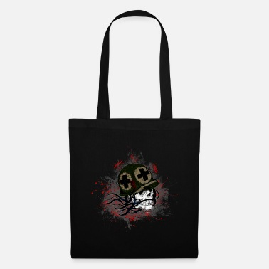 Paint Splatter Soldier Death Skull Paint Splatter Art - Tote Bag