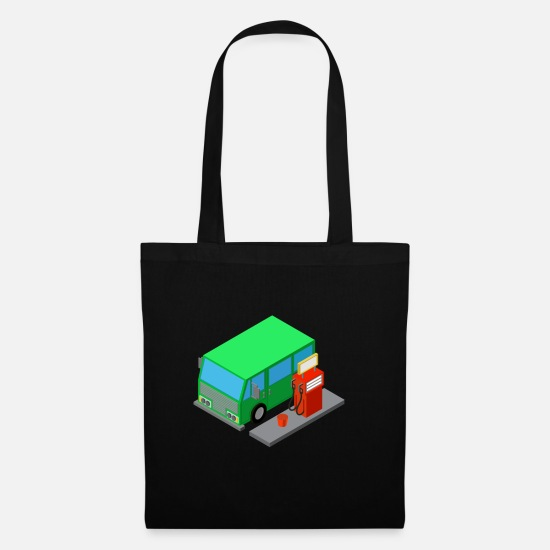 Bus Bags & Backpacks - van on gas station - Tote Bag black