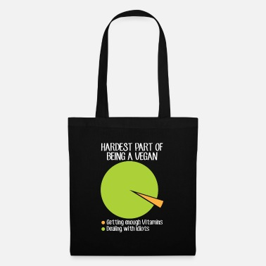 Vegan Idiots Vegan Vitamins Dealing with Idiots - Tote Bag