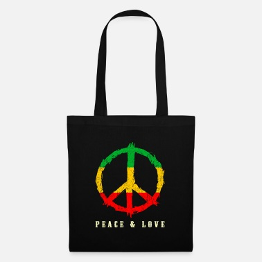 Rastafari REGGAE, PEACE AND LOVE - Tote Bag