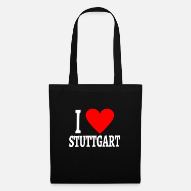 Swabia I love Stuttgart in words white and heart graphic - Tote Bag