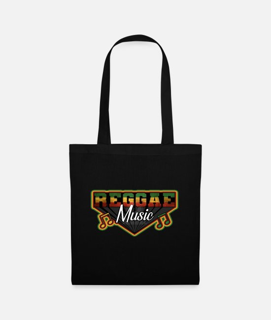 Rasta Bags & Backpacks - REGGAE MUSIC, MARLEY, RASTAFARI, JAMAIKA - Tote Bag black
