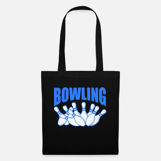 "Bowler Bags & Backpacks - A Great Blue Bowling Tee For Bowlers Saying "" - Tote Bag black"