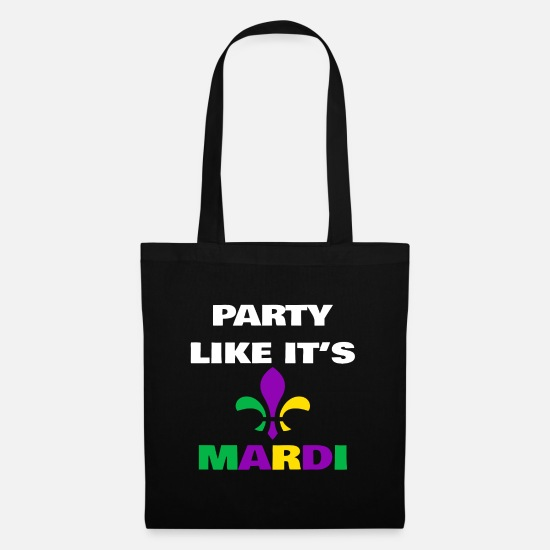 Shrovetide Bags & Backpacks - Party Like It's Mardi - Tote Bag black