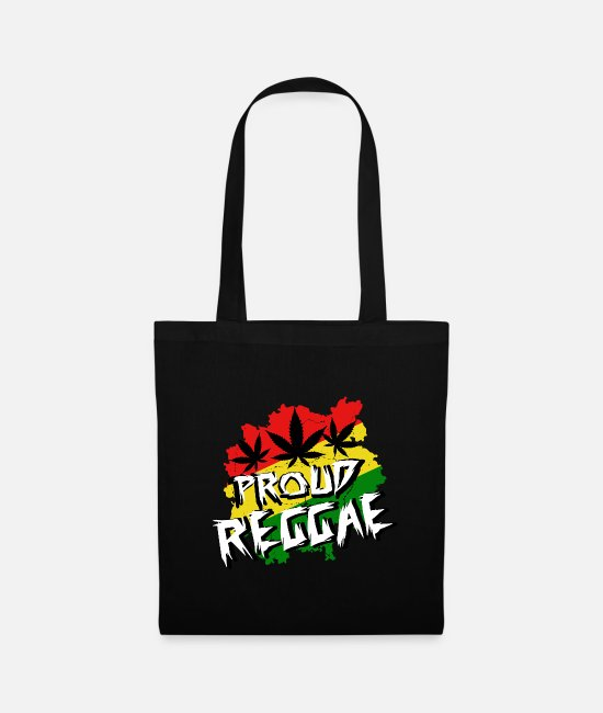 Rasta Bags & Backpacks - proud reggae, Rastafari, Ragga, Dancehall, Weed - Tote Bag black