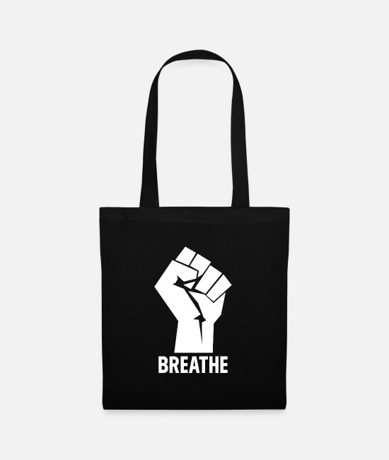 Affair Bags & Backpacks - Breathe - Black Lives Matter Hand - Tote Bag black