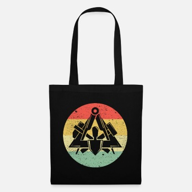 Workwear Masons guild symbol on cool vintage retro colors - Tote Bag