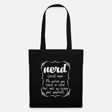 Dictionary Funny definition nerd teased at school - Tote Bag