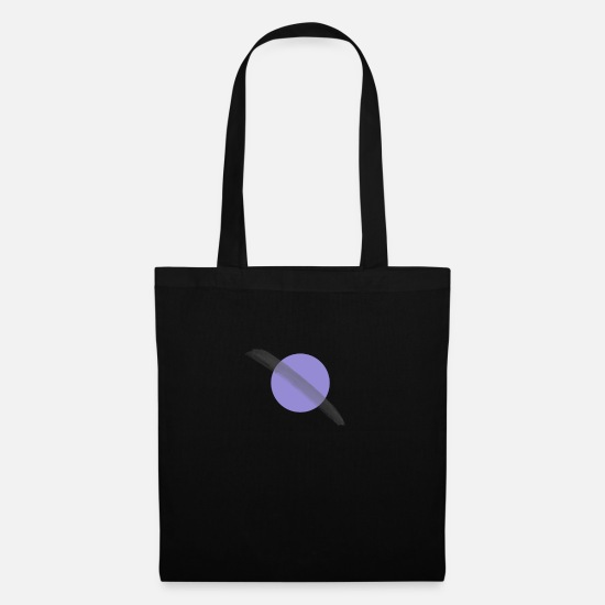 Saturn Bags & Backpacks - Purple circle stroke brush - Tote Bag black