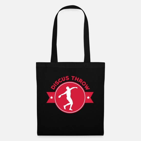 Sporty Bags & Backpacks - Discus Thrower Diskuswurf Lancer de Disque Diskos - Tote Bag black