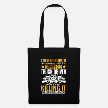 Drifting Crumpy Old Truck Driver and Killing it - Tote Bag